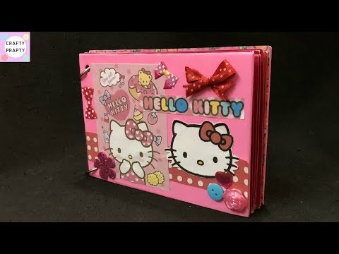 DIY Hello kitty Scrapbook / How to make Scrapbook /Scrapbook Tutorial /Hello kitty scrapbook