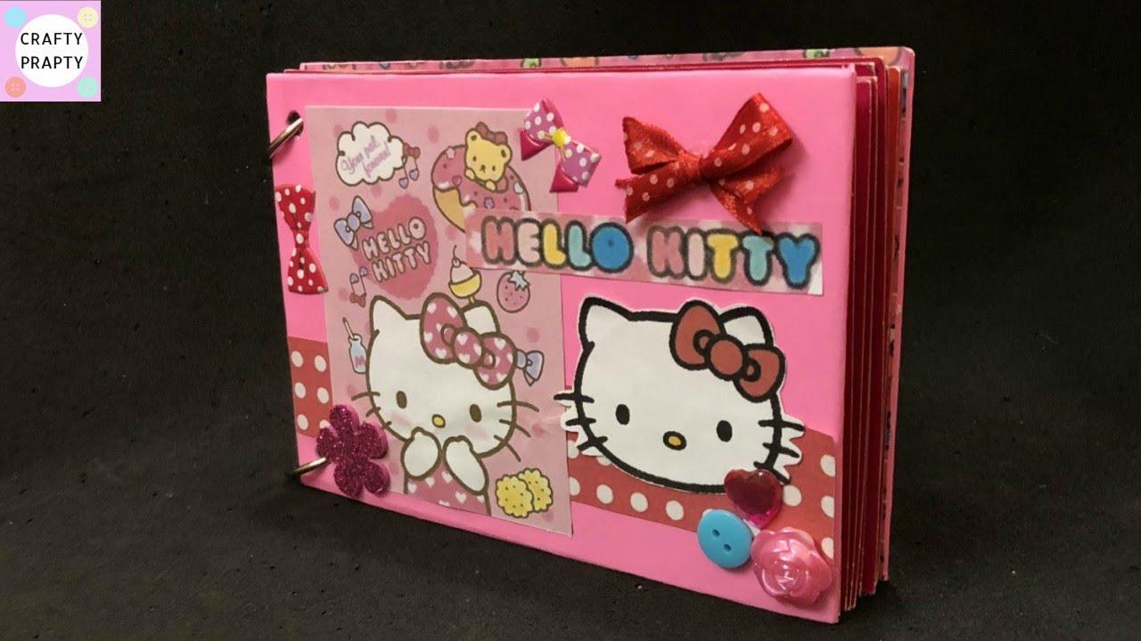 ae788a8cf DIY Hello kitty Scrapbook / How to make Scrapbook /Scrapbook Tutorial /Hello  kitty scrapbook