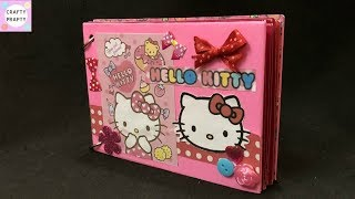 DIY Hello kitty Scrapbook / How to make Scrapbook /Scrapbook Tutorial /Hello kitty scrapbook