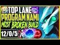 TOP LANE PROGRAM NAMI | ONE SHOTS? EASY! MOST BROKEN NAMI AP BUILD | LoL TOP Nami Season 9 Gameplay