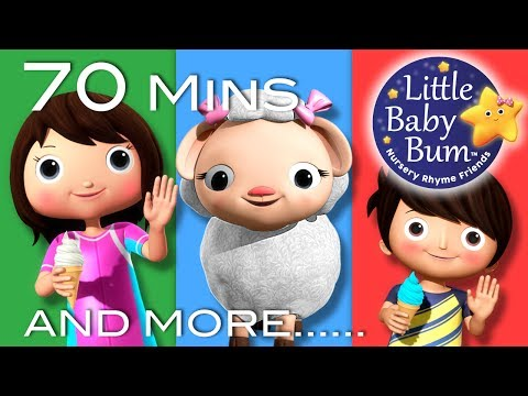 Mary Had A Little Lamb | Part 2 | Plus More Nursery Rhymes | 70 Mins Compilation by LittleBabyBum!