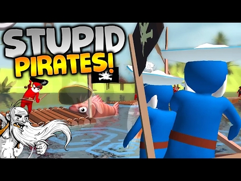 "Stupid Raft Battle Simulator Gameplay - ""PIRATE TABS ON MOBILE!!!"" iOS Ipad Let's Play"