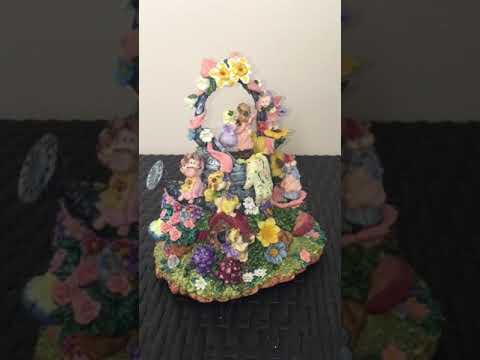 Musical animated figurine garden fairies music box ebay krisgotitinc
