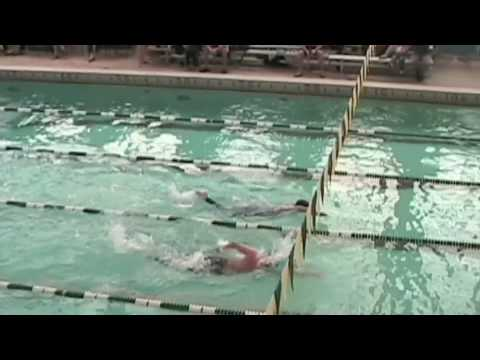 MESC Blue Lobsters:  Zachary Gray & Sam Manhart duel the 200 yard freestyle @ Husson College, 2009