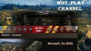 T-44  7k damage and Kolobanov  Redshire  World of Tanks  0.9.14