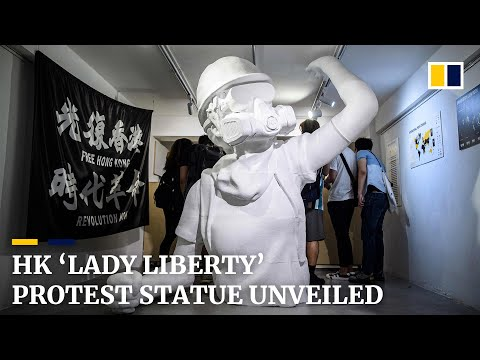 hong-kong-'lady-liberty'-protest-statue-goes-on-display