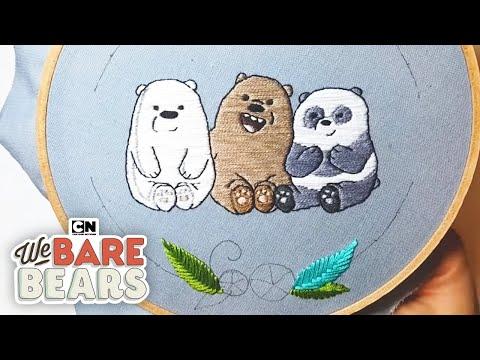 We Bare Bears   DIY Baby Bear Embroidery Hoop   Cartoon Network