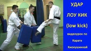 УРОКИ Каратэ Киокушинкай - Удар Лоу Кик ( low kick ) урок № 13