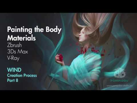 Painting Body texture in Zbrush  Work process on