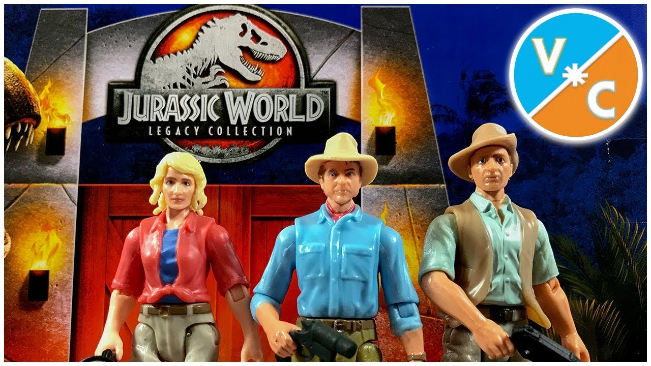 Jurassic World Legacy Collection Dr Grant and Sattler Jurassic Park Malcolm