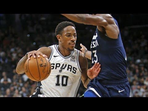 DeMar DeRozan Spurs Debut 28 Points! 2018-19 NBA Season