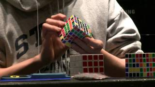 6x6 rubik s cube official world record former 1 54 81