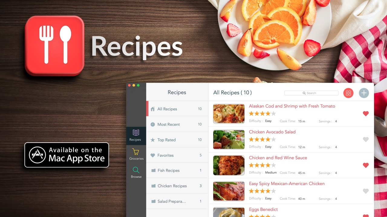 Recipes | Recipe Manager App for Mac | iLifeTouch - YouTube