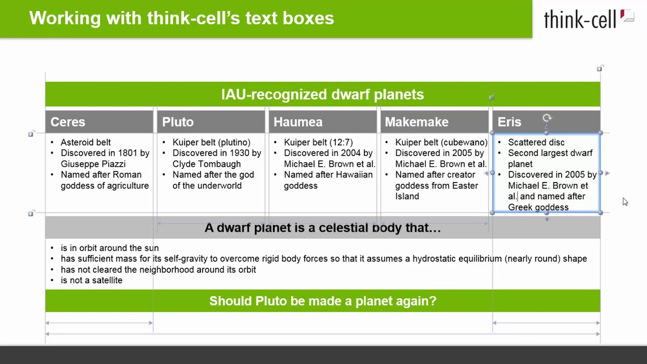 Working with think-cell's text boxes (think-cell tutorials)