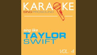 "Crazier (From the Movie ""Hannah Montana"") (In the Style of Taylor Swift) (Karaoke Instrumental..."
