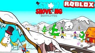 SNOW SHOVELING SIMULATOR | ROBLOX MOVIE!