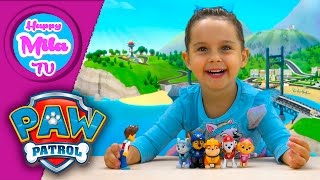 Paw Patrol Action Pack Rescue Team Marshall Everest Skye Rubble Chase and Ryder | HappyMilaTV #251