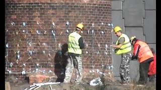 Wyburzanie komina w Gdańsku