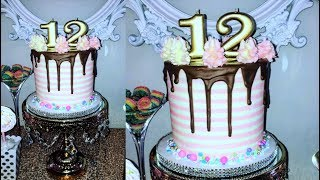 Cake decorating tutorials | BUTTERCREAM stripe cake | Sugarella Sweets