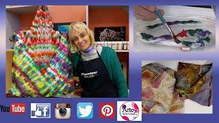 Técnica shibori sobre seda con uso de microondas-Conny Mellien Becker