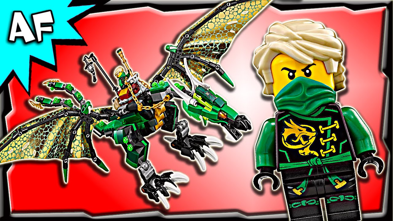 Lego Ninjago Lloyd's Green NRG DRAGON 70593 Animation ...
