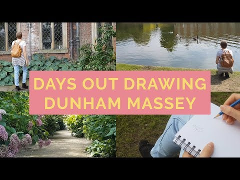 #DaysOutDrawing In National Trust Dunham Massey Cheshire - Life Of An Illustrator