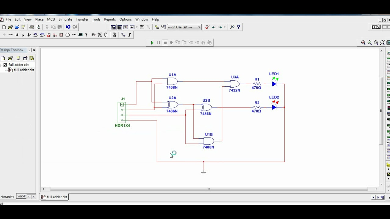 Pcb Design For Full Adder Circuit Youtube Diagram