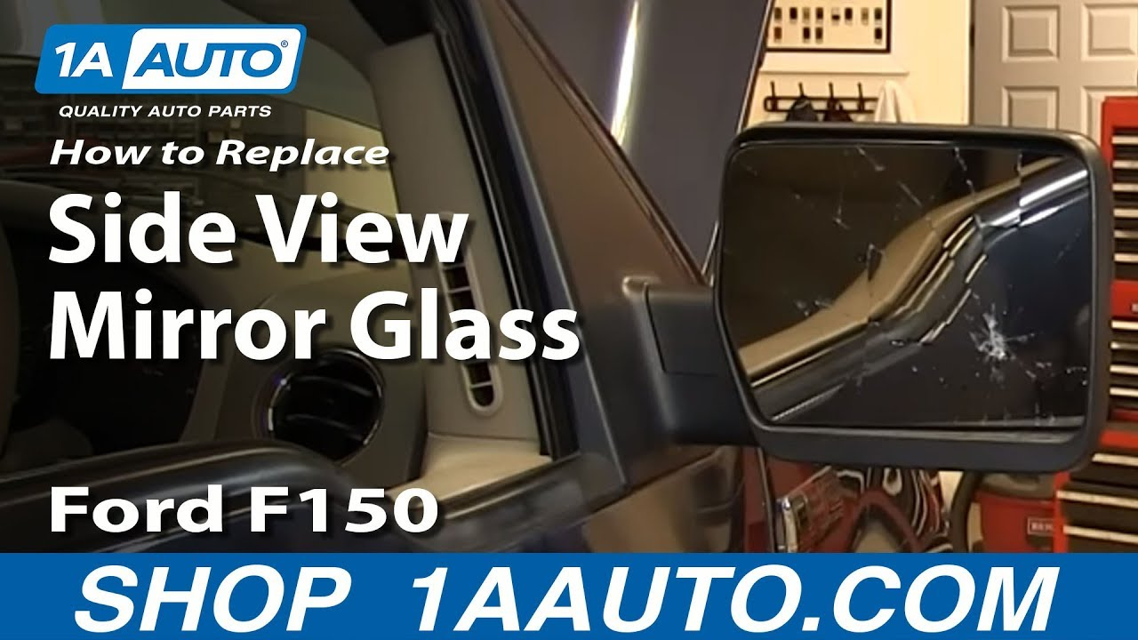 How to install replace broken mirror glass 2004 2013 ford f150 youtube