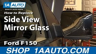 How To Install Replace Broken Mirror Glass 2004-2013 Ford F150