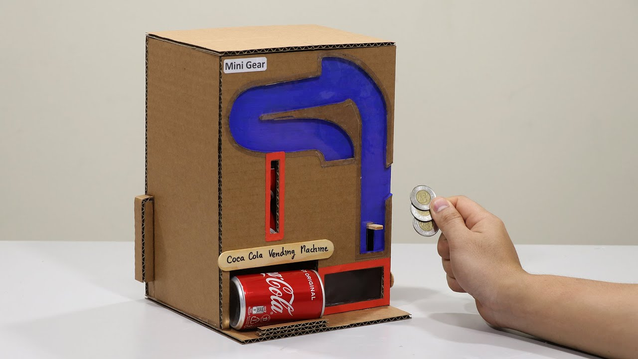 How to Make Coca-Cola Vending Machine with Coin