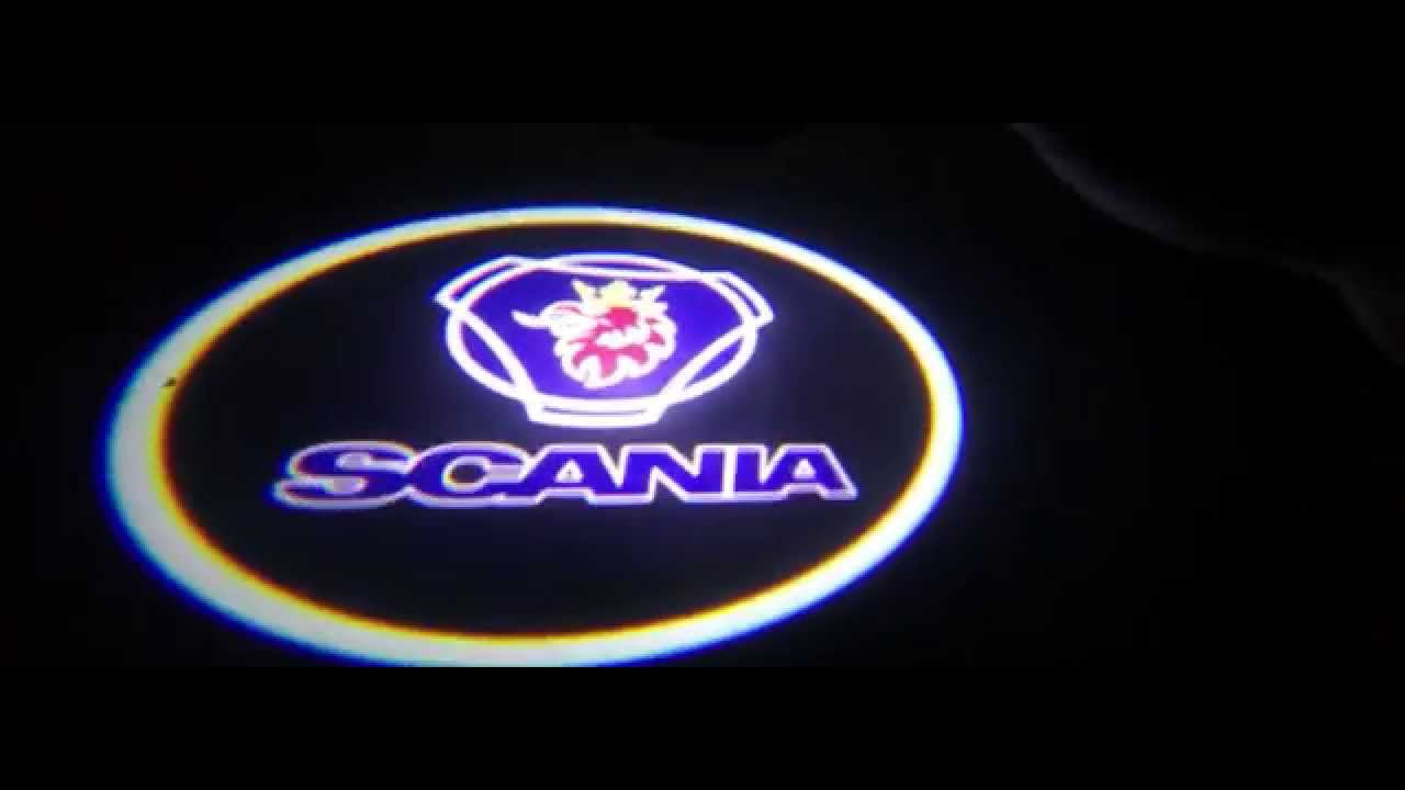 Proiettori Led Logo Scania Luci Cortesia Led Kit Tuning