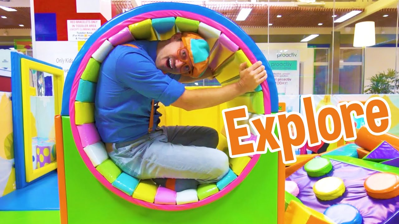 Blippi Visits an Indoor Playground (Funtastic Playtorium) | Kids Learning Videos | Blippi Videos