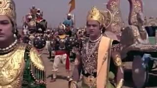 Кришна показывает свою вселенскую форму со всеми проявлениями на битве при Курукшетре. Бхагавад Гита
