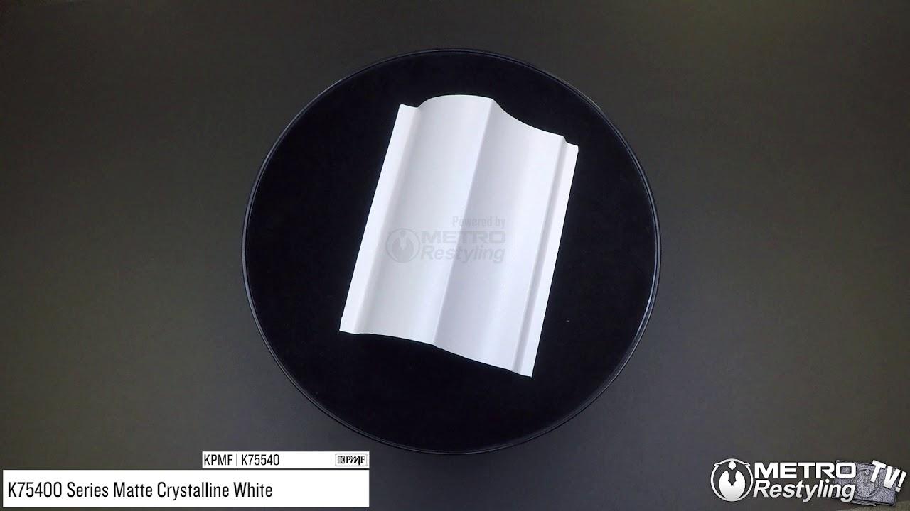 KPMF K75540 MATTE CRYSTALLINE WHITE Vinyl Vehicle Car Wrap Decal Film Sheet Roll