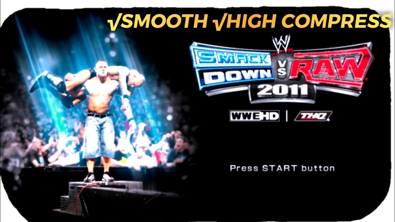 Download ONLY 192MB! Download Game SMACK DOWN VS RAW 2011 PPSSPP