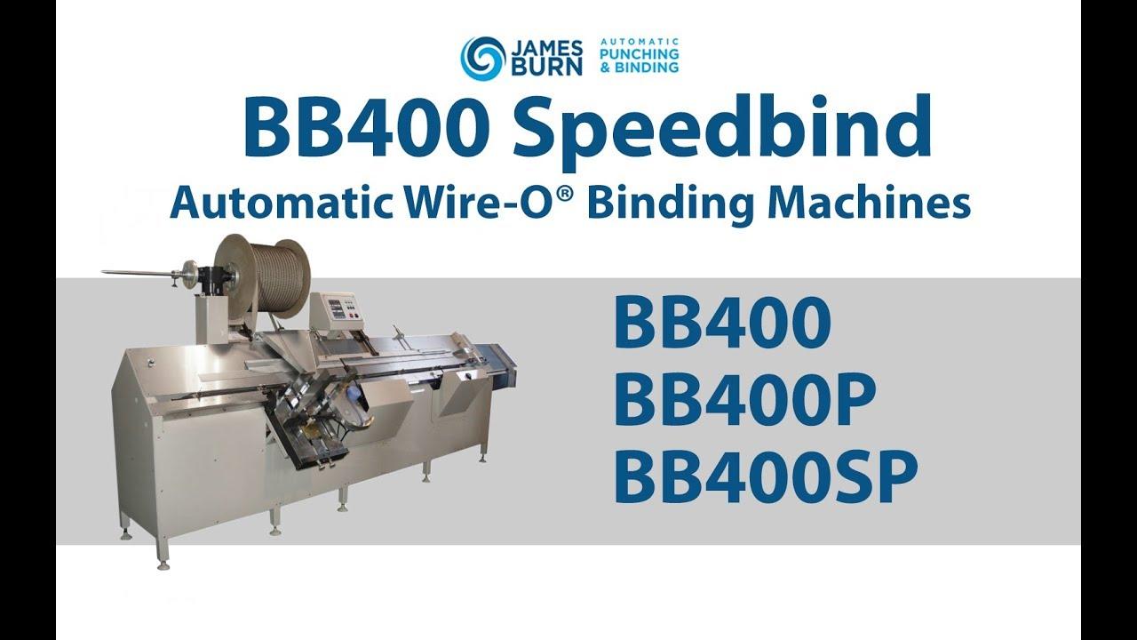 James Burn BB400 Speedbind Automatic Wire-O® Binding Machine - YouTube