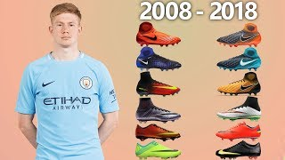 KEVIN DE BRUYNE - NEW SOCCER CLEATS & ALL FOOTBALL BOOTS 2008-2018