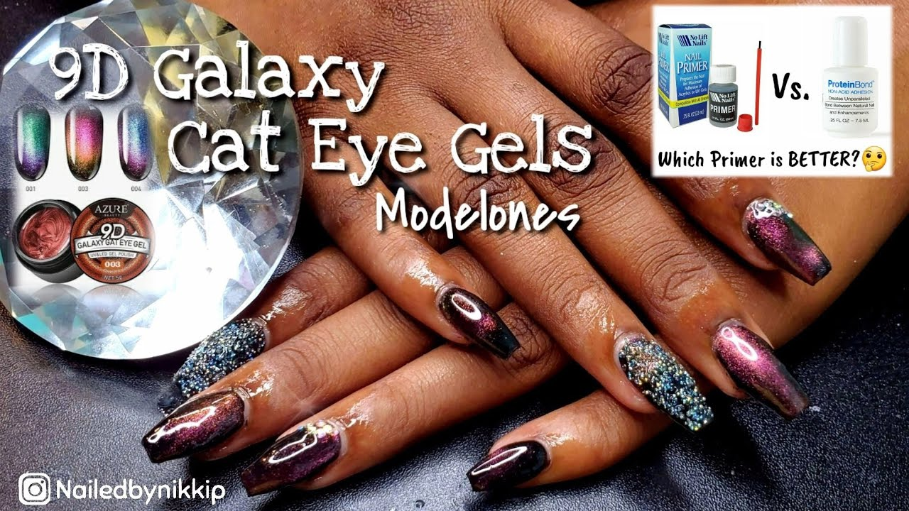 Modelones 9D Cat Eye Gels | No Lifts Nail Primer vs. Young ...