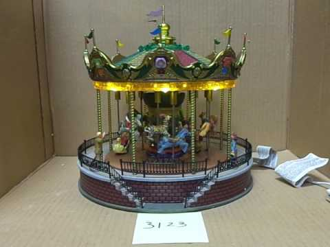 Lemax Village Collection Sunshine Carousel 14325 As-Is 3123