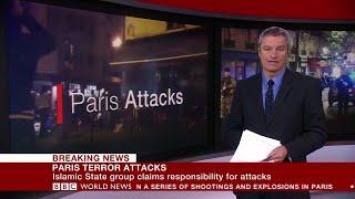 Paris Terror Attacks   BBC World News coverage 14.11 (2015).