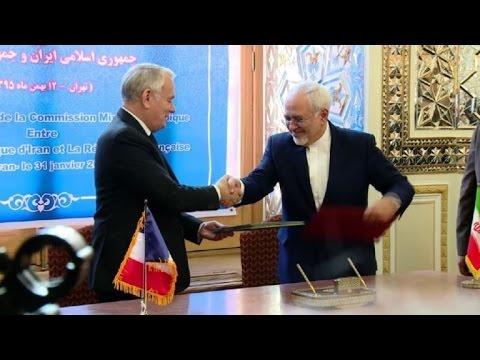 Jean-Marc Ayrault rencontre Mohammad Javad Zarif à Téhéran