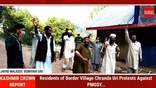 Residents of Border Village Chrunda Uri Protests Against PMGSY