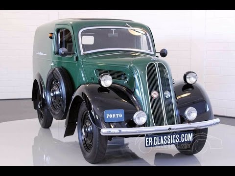 Ford Fordson Van 1949 restored condition great promotion car -VIDEO- www.ERclassics.com