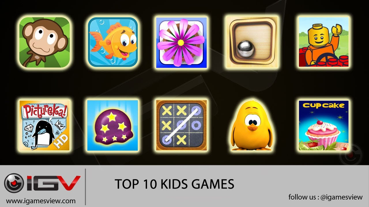 Top 10 Kids Games For Iphone Ipad Ipod Touch Youtube