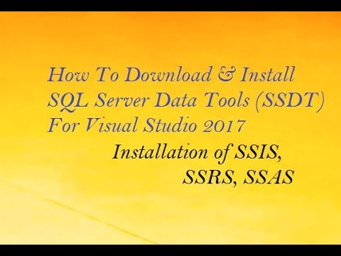 SQL Server Data Tools (SSDT) For Visual Studio 2017