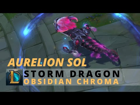 Storm Dragon Aurelion Sol Obsidian Chroma - League Of Legends