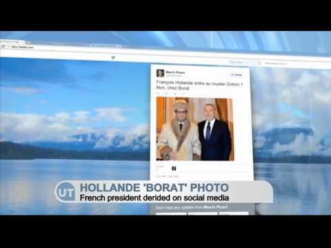 Hollande 'Borat' Photo: French President derided on social media
