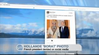 Hollande 'Borat' Photo: French President derided on social media