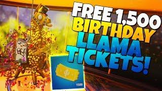 ¡1.500 ENTRADAS DE Llama de Cumpleaños GRATIS! (Llama gratuita de Sm-rg-sbord) Fortnite Save The World