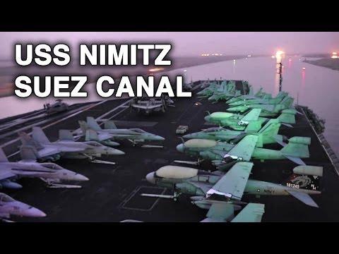 Aircraft Carrier USS Nimitz Crosses Suez Canal